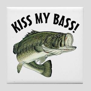 Kiss My Bass Tile Coaster