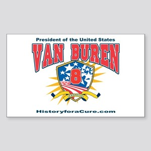 President Martin Van Buren Sticker (Rectangle)