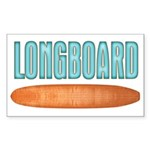 Longboard - Sticker (Rectangle 50 pk)