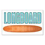 Longboard - Sticker (Rectangle 10 pk)