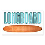 Longboard - Sticker (Rectangle)