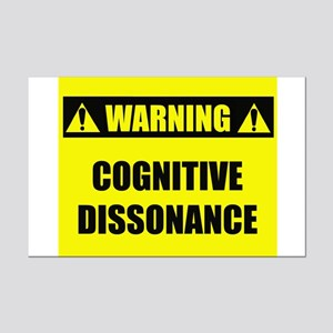 WARNING: Cognitive Dissonance Mini Poster Print
