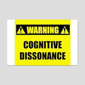 WARNING: Cognitive Dissonance Mini Poster Print