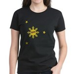 Flipside Sun and Stars Women's Dark T-Shirt