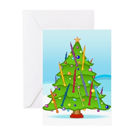 English Horn Christmas Greeting Card