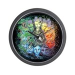 """""""Time & Space"""" Wall Clock"""