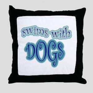 LD Swim Club 2 Throw Pillow