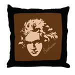 Beethoven Music Throw Pillow Gift