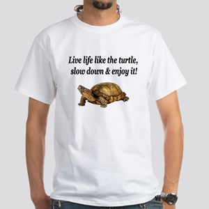 LOVE A TURTLE White T-Shirt