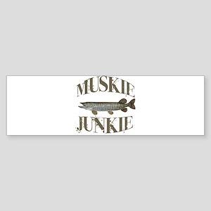 MUSKIE JUNKIE Sticker (Bumper)