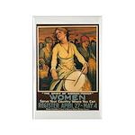 Women Power Poster Art Rectangle Magnet (10 pack)
