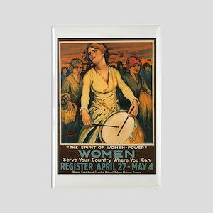 Women Power Poster Art Rectangle Magnet