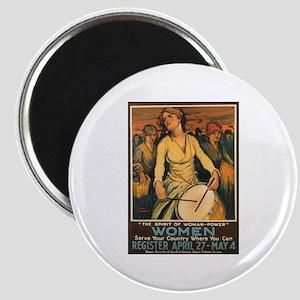 Women Power Poster Art Magnet