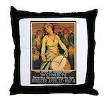 Women Power Poster Art Throw Pillow