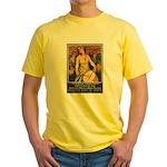 Women Power Poster Art (Front) Yellow T-Shirt