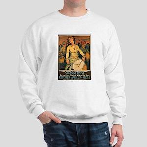 Women Power Poster Art (Front) Sweatshirt