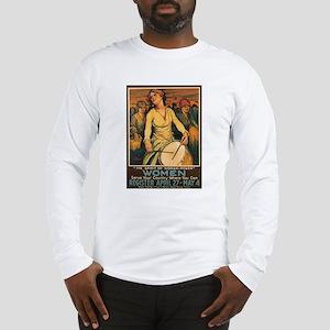 Women Power Poster Art (Front) Long Sleeve T-Shirt