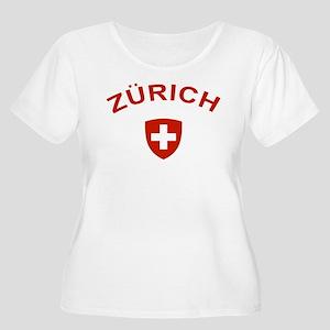 Zurich Women's Plus Size Scoop Neck T-Shirt