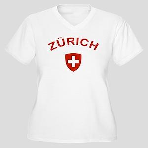 Zurich Women's Plus Size V-Neck T-Shirt
