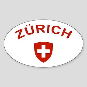 Zurich Sticker (Oval)