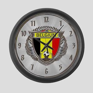 Belgium Soccer Large Wall Clock