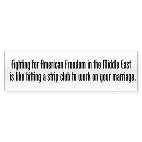 Fighting For Freedom Sticker (Bumper)