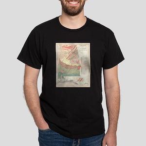 Vintage Agricultural Map of Alabama (1882) T-Shirt