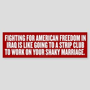 Strip Club Freedom Sticker (Bumper)