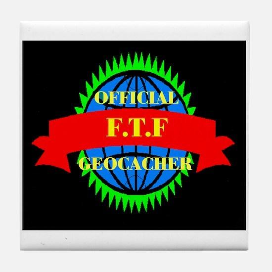FTF GREEN/BLACK Tile Coaster