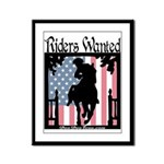 TEA Riders Wanted Framed Panel Print