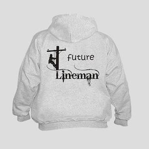 Future Lineman Kids Hoodie