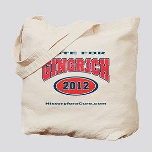 Vote for Newt Gingrich Tote Bag
