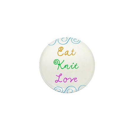 Eat Knit Love Mini Button (10 pack)