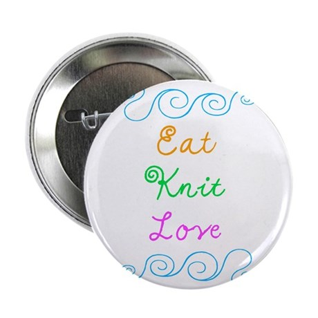 "Eat Knit Love 2.25"" Button (10 pack)"