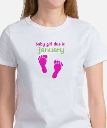 Pink Baby Footprints Women's T-Shirt