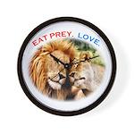 Eat Prey. Love. Wall Clock