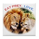 Eat Prey. Love. Tile Coaster