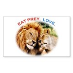 Eat Prey. Love. Sticker (Rectangle)