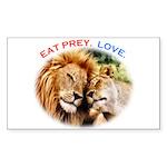 Eat Prey. Love. Sticker (Rectangle 10 pk)