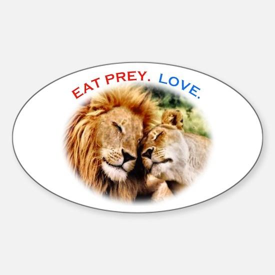 Eat Prey. Love. Sticker (Oval)
