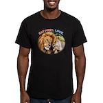 Eat Prey. Love. Men's Fitted T-Shirt (dark)