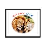 Eat Prey. Love. Framed Panel Print