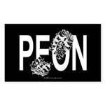 Peon Rectangle Sticker