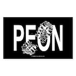 Peon Rectangle Sticker