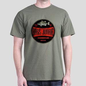 BASS FISHIN JUNKIE Dark T-Shirt