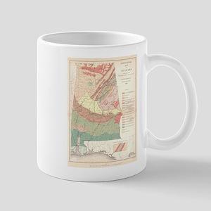 Vintage Agricultural Map of Alabama (1882) Mugs