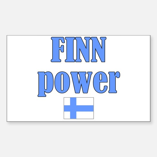 Finnish Pride Rectangle Decal