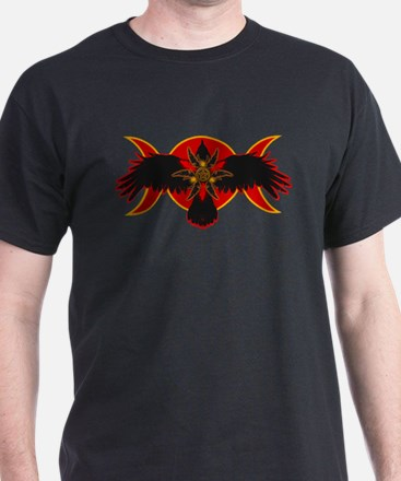 Crow Triple Goddess - Red T-Shirt