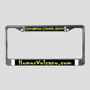 Humor Volcano License Plate Frame