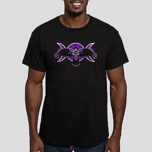 Crow Triple Goddess - Purple Men's Fitted T-Shirt
